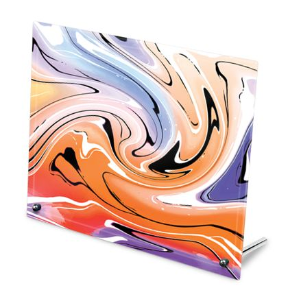 Glass Frame - Multicolour Swirling Marble Pattern 4 of 12
