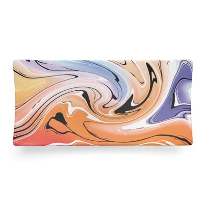Seder Dish - Multicolour Swirling Marble Pattern 4 of 12