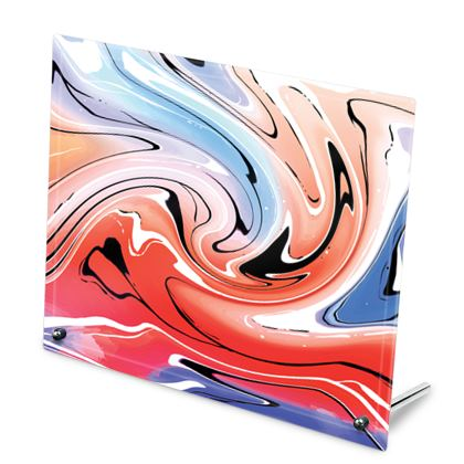 Glass Frame - Multicolour Swirling Marble Pattern 5 of 12