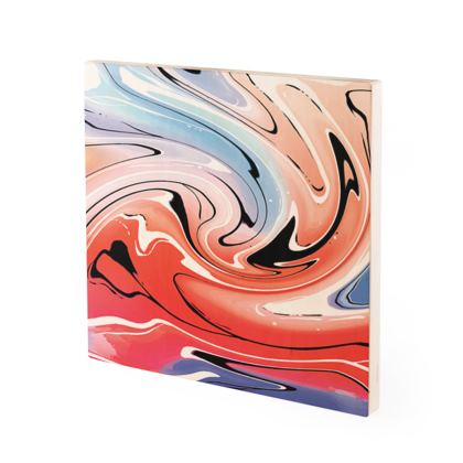 Wood Prints - Multicolour Swirling Marble Pattern 5 of 12