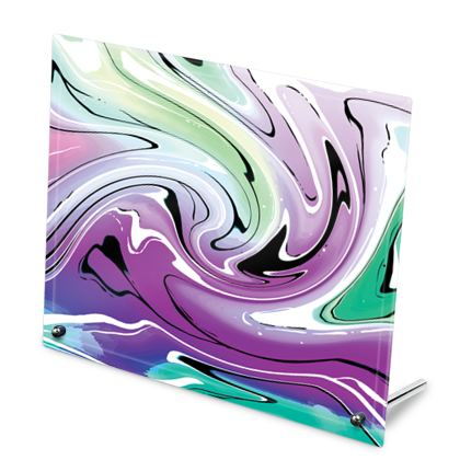 Glass Frame - Multicolour Swirling Marble Pattern 7 of 12