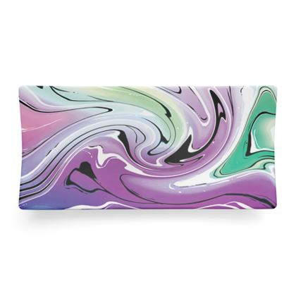 Seder Dish - Multicolour Swirling Marble Pattern 7 of 12
