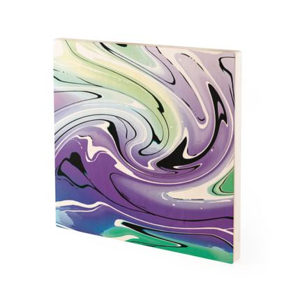 Wood Prints - Multicolour Swirling Marble Pattern 8 of 12