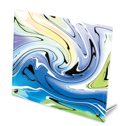 Glass Frame - Multicolour Swirling Marble Pattern 9 of 12