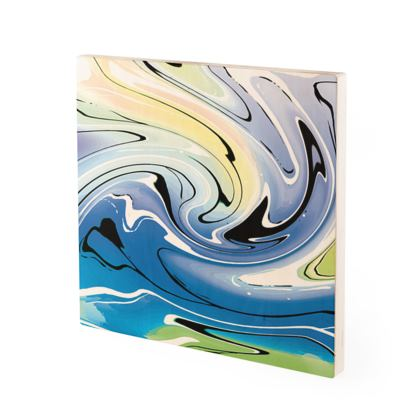 Wood Prints - Multicolour Swirling Marble Pattern 9 of 12