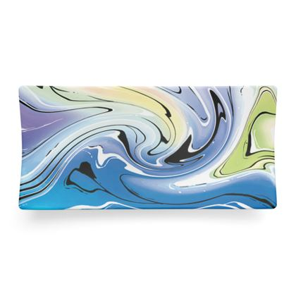 Seder Dish - Multicolour Swirling Marble Pattern 9 of 12