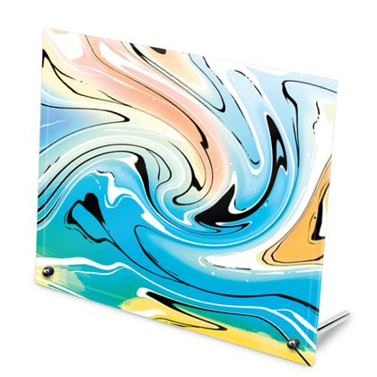 Glass Frame - Multicolour Swirling Marble Pattern 10 of 12