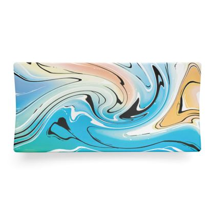 Seder Dish - Multicolour Swirling Marble Pattern 10 of 12