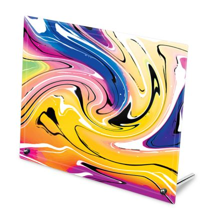 Glass Frame - Multicolour Swirling Marble Pattern 12 of 12