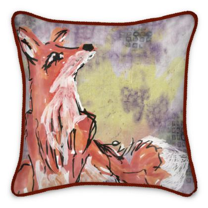 Mr Fox Silk Cushion