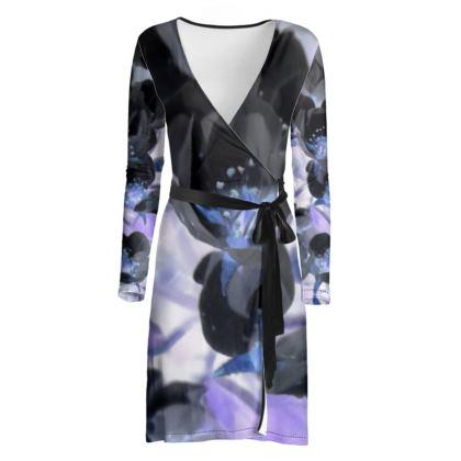 BB Black Blossom Wrap Dress