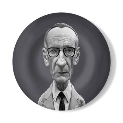 William Burroughs Celebrity Caricature Decorative Plate