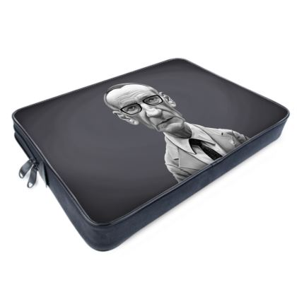 William Burroughs Celebrity Caricature Laptop Bags
