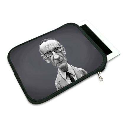 William Burroughs Celebrity Caricature iPad Slip Case