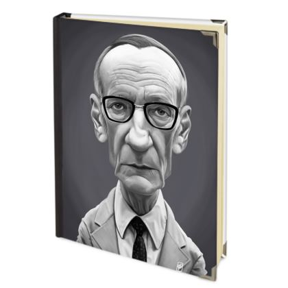 William Burroughs Celebrity Caricature 2018 Deluxe Diary