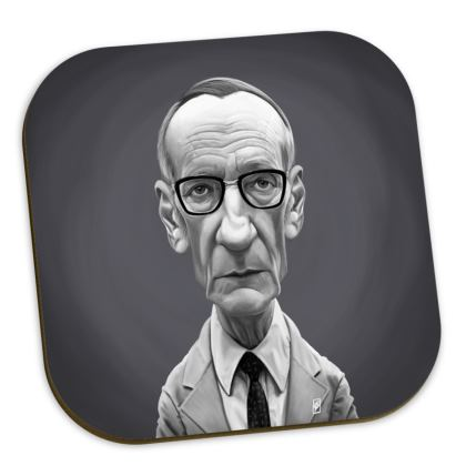 William Burroughs Celebrity Caricature Coasters