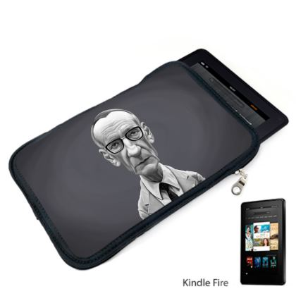 William Burroughs Celebrity Caricature Kindle Case