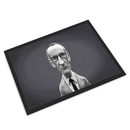 William Burroughs Celebrity Caricature Door Mat