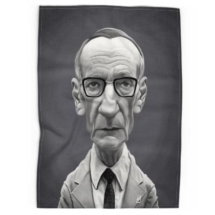 William Burroughs Celebrity Caricature Tea Towels