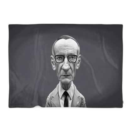 William Burroughs Celebrity Caricature Blanket