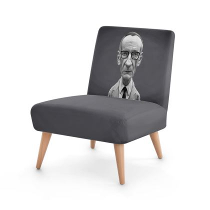 William Burroughs Celebrity Caricature Occasional Chair