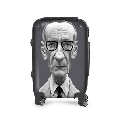 William Burroughs Celebrity Caricature Suitcase