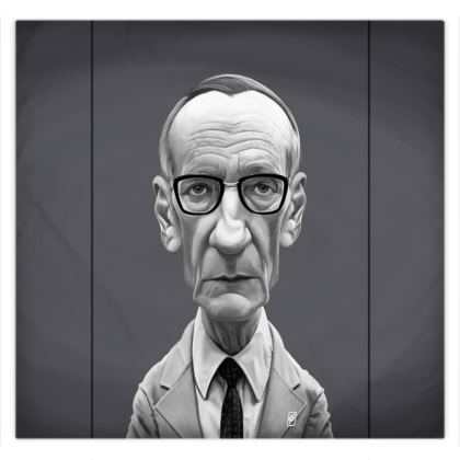 William Burroughs Celebrity Caricature Duvet Covers