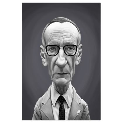 William Burroughs Celebrity Caricature Art Print