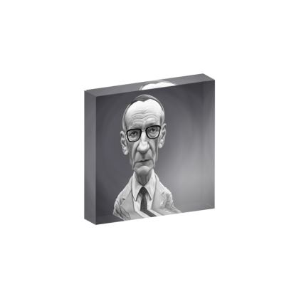 William Burroughs Celebrity Caricature Acrylic Photo Blocks