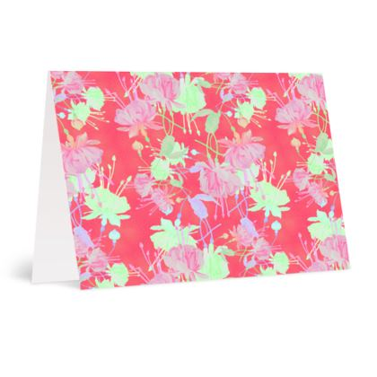 Occasions Cards Red, Green, Floral  Fuchias  Hot Pepper