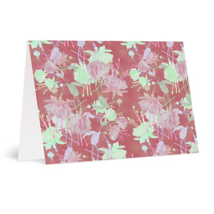 Occasions Cards Brown, Floral  Fuchsias  Sassy Cinnamon