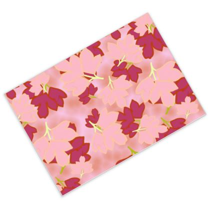 Postcards Red, Pink, botanical  Oriental Leaves  Fruit Smoothie