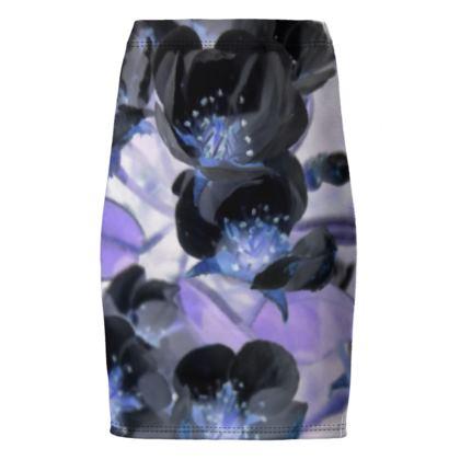BB Black blossom Pencil Skirt