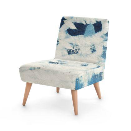 Indigo Blue Smudge Occasional Chair