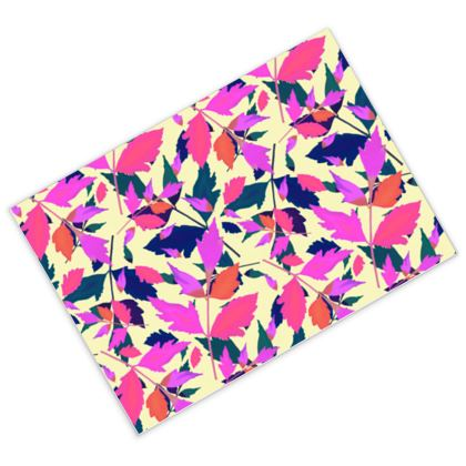 Postcards Pink, Mauve, botanical  Diamond Leaves  Sunset