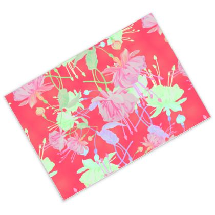 Postcards Red [pack of 16], Pink Floral  Fuchsias  Hot Pepper