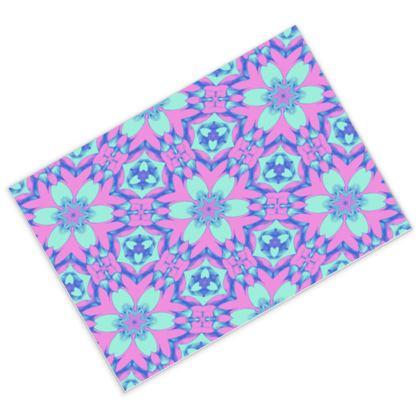 Postcards [pack of 16] Blue, Pink, Floral  Geometric Florals  Hyacinth