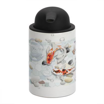 Soap Dispenser, 'Clear Water Koi' theme, Artwork One