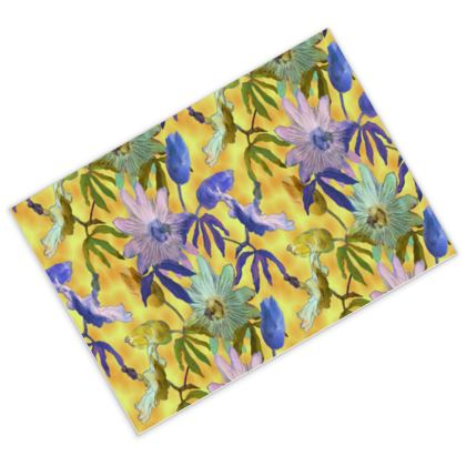Postcards [pack of 16]Yellow, Mauve  Passionflower  Radiance