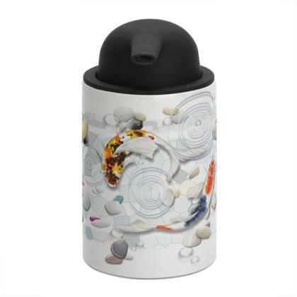 Soap Dispenser, 'Clear Water Koi' theme, Artwork Two