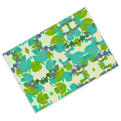 Postcards turquoise, green [pack of 16]  Field Poppies  Pharaoh