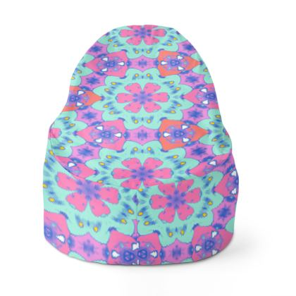 Bean Bags turquoise, mauve, floral  Geometric Leaves  Beehive