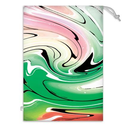Toy Sack - Multicolour Swirling Marble Pattern 1 of 12