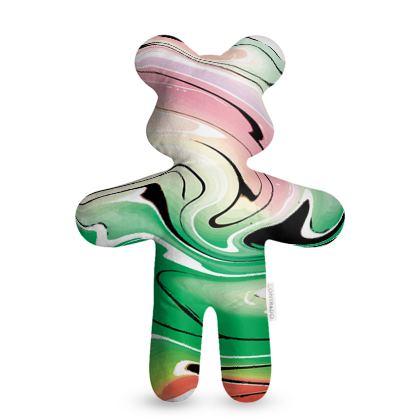 Teddy Bear - Multicolour Swirling Marble Pattern 1 of 12