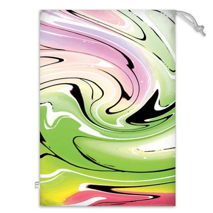 Toy Sack - Multicolour Swirling Marble Pattern 2 of 12