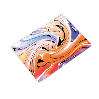 Plastic Jigsaw Puzzle - Multicolour Swirling Marble Pattern 4 of 12