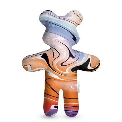 Teddy Bear - Multicolour Swirling Marble Pattern 4 of 12