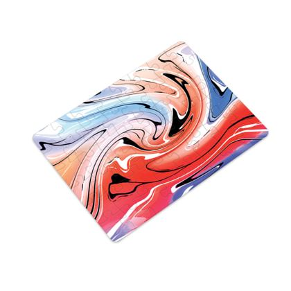 Plastic Jigsaw Puzzle - Multicolour Swirling Marble Pattern 5 of 12