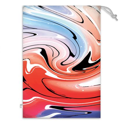 Toy Sack - Multicolour Swirling Marble Pattern 5 of 12