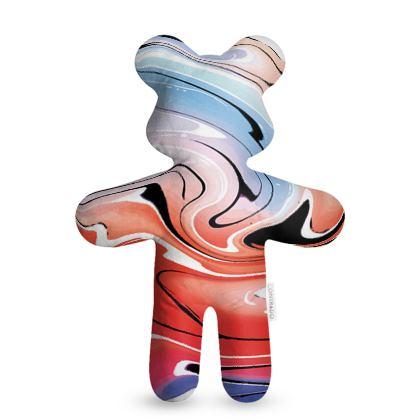 Teddy Bear - Multicolour Swirling Marble Pattern 5 of 12